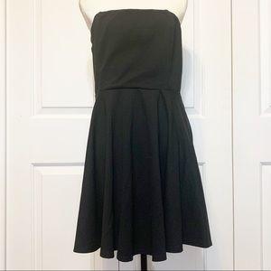 Lulu's Black Strapless Mini Dress w/ Ruffle Skirt